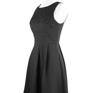 Sleeveless Textured Black Dress - Medium NWT